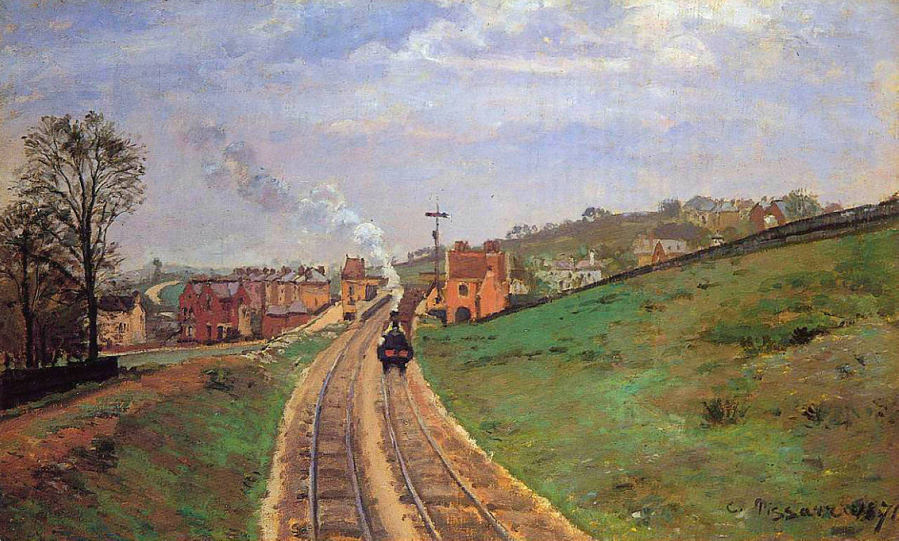 Lordship Lane Station Dulwich by Camille Pissarro